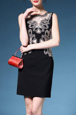 Hot Sleeveless Embroidered Cutwork Dress