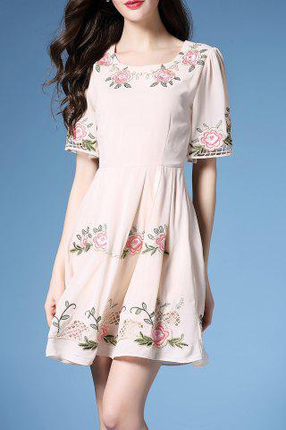 Hot Embroidered Hollow Out Dress