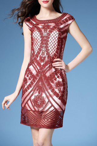 Chic Embroidered Bodycon Dress
