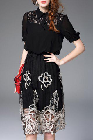 Shops Hollow Out Embroidered Dress