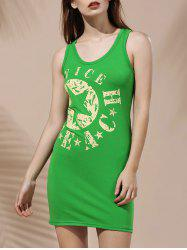 Casual Scoop Neck Sleeveless Star Print Summer Dress