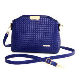Elegant Checked and Metal Design Crossbody Bag For Women