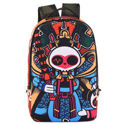 Leisure Peking Mask and Multicolor Design Backpack For Men