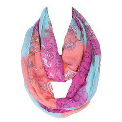 Chic Flower and Paisley Pattern Colored Voile Bib Scarf For Women