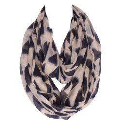 Chic Black Irregular Triangle Pattern Voile Bib Scarf For Women - LIGHT KHAKI