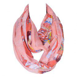 Chic American Indian Tribal Style Printed Voile Bib Scarf For Women -