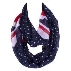 Chic Union Flag and Five-Pointed Star Pattern Voile Bib Scarf For Women -