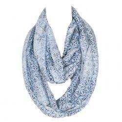 Chic Handpainted Geometric Flowers Pattern Voile Bib Scarf For Women -