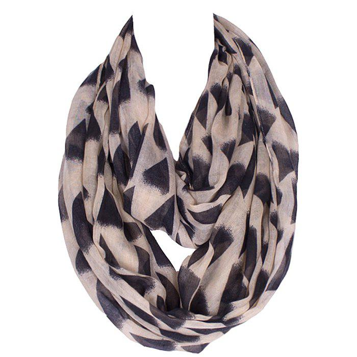 Shops Chic Black Irregular Triangle Pattern Voile Bib Scarf For Women
