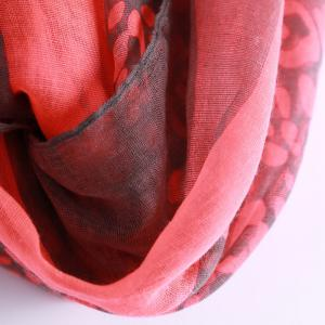 Chic Leopard Pattern Multifunctional Voile Scarf For Women - RED