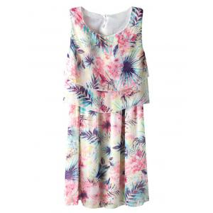 Chiffon Floral Print Mini Summer Dress