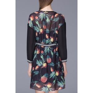 Elastic Waist Printed Dress -