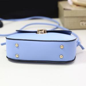 Concise Push Lock and Solid Color Design Crossbody Bag For Women -