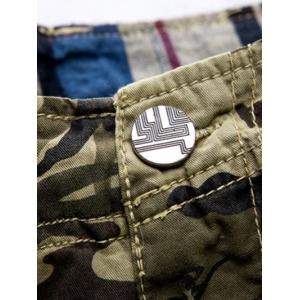 Zipper Fly Loose-Fitting Camouflage Print Multi-Pockets Straight Leg Cargo Shorts For Men -