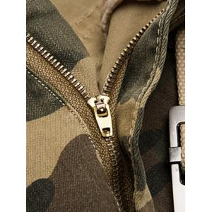 Zipper Fly Loose-Fitting Camo Print Multi-Pockets Straight Leg Cargo Shorts For Men -