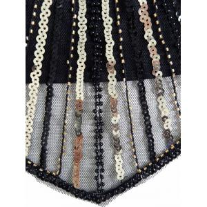 Sequin Mini Glitter Cocktail Prom Dress - BLACK S