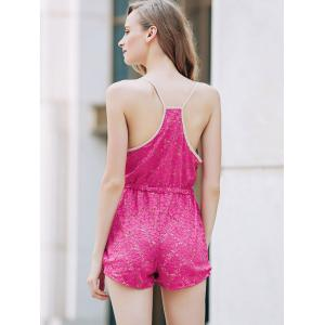 Trendy Rose Red Lace Women's Cami Playsuit -