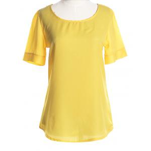 Graceful Plus Size Scoop Neck Short Sleeves Blouse For Women