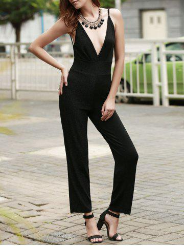 Buy Stylish Shining String Design Backless Jumpsuit For Women