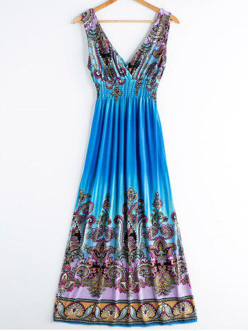 Store Sweet V-Neck Printed Sleeveless Women's Bohemian Dress