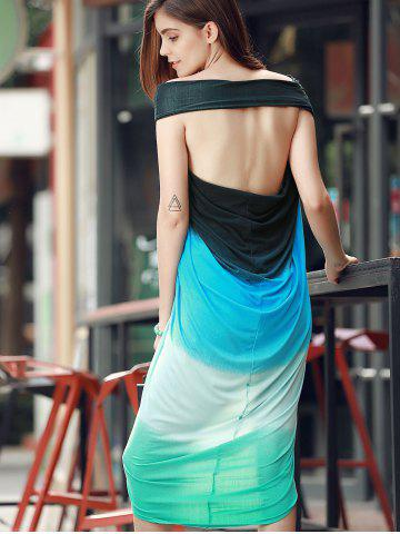 Bohemian Strapless Color Block Hollow Out Slit Dress For Women от Rosegal.com INT