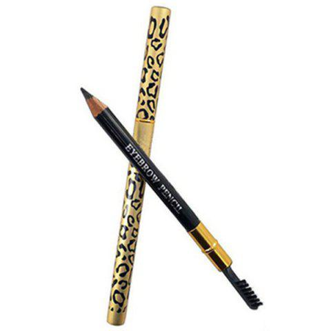 Cheap Stylish Leopard Pattern Double-End Waterproof Smudge-Proof Eyebrow Pencil with Brush