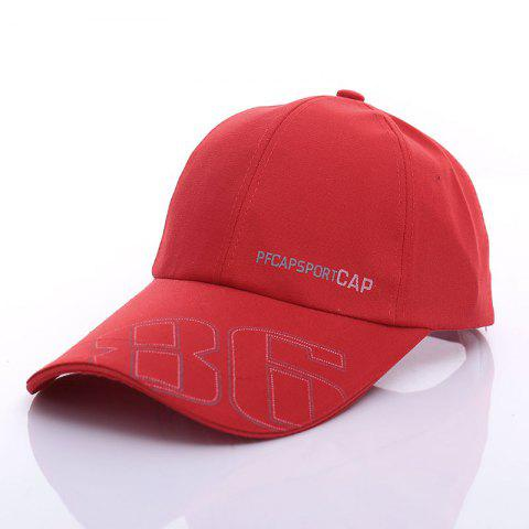 Stylish Letter and Number Pattern Baseball Cap For Men - Red