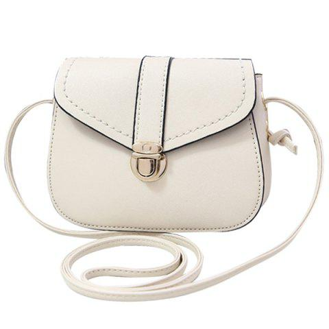 Buy Concise Push Lock and Solid Color Design Crossbody Bag For Women