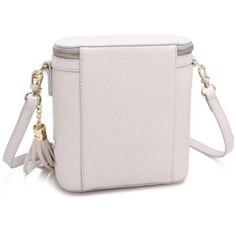 Shop Chic Sequined and Stars Design Crossbody Bag For Women - WHITE  Mobile