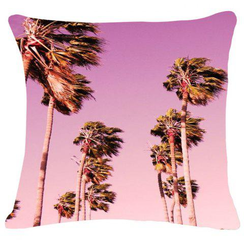 Shops Fashion Sky Landscape Pattern Square Shape Flax Pillowcase (Without Pillow Inner)