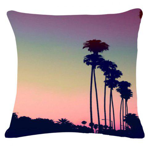Buy Fashion Rainbow Color Sky Pattern Square Shape Flax Pillowcase (Without Pillow Inner)
