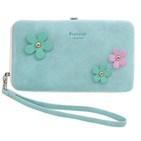 Outfits Sweet Hasp and Flower Design Clutch Wallet For Women