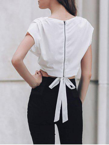 Latest Stylish Plunging Neck Solid Color Tank Top For Women