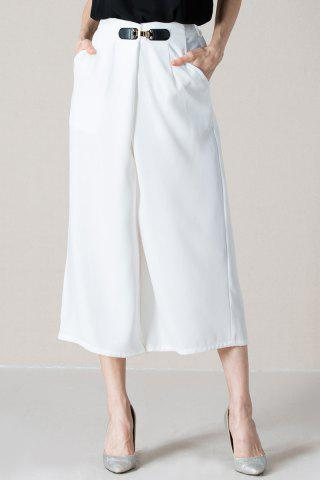 Buy Pure Color Wide-Leg Pants