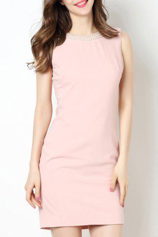 Hot Round Collar Beaded Bodycon Dress