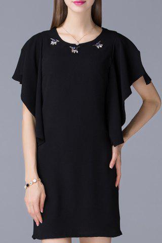 Buy Beaded Ruffled Sleeve Dress