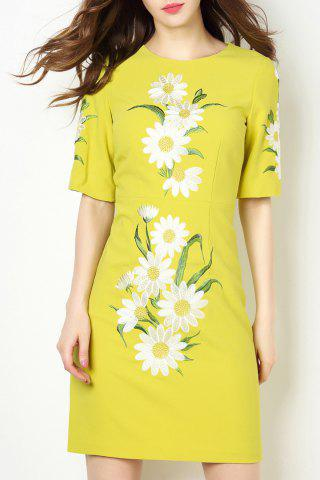 Store Mini Flower Embroidered Dress