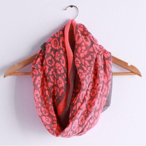 Discount Chic Leopard Pattern Multifunctional Voile Scarf For Women RED