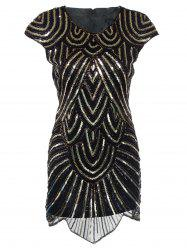 Sequin Mini Glitter Cocktail Prom Dress -