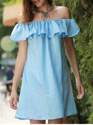 Off The Shoulder Mini Ruffle Dress