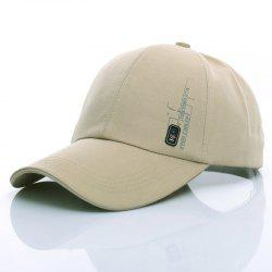 Stylish Side Labelling Embellished Letter Pattern Baseball Cap For Men - LIGHT KHAKI
