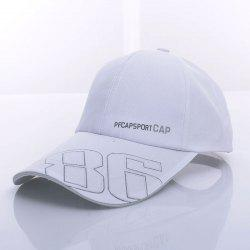 Stylish Letter and Number Pattern Baseball Cap For Men - WHITE