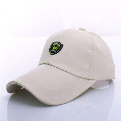 Stylish Shield Shape Labelling Embellished Baseball Cap For Men -