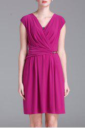 Wrapped Solid Color Dress -