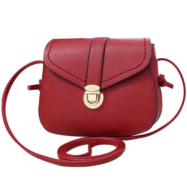 Latest Concise Push Lock and Solid Color Design Crossbody Bag For Women
