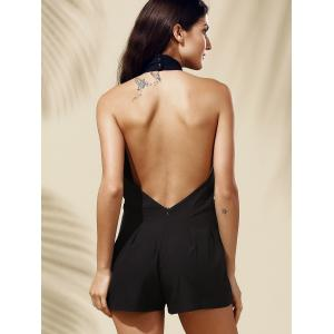 Chic Women's Backless Plunging Neck Romper -