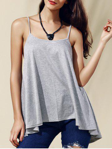 Hot Chic Women's Backless Pure Color Spaghetti Strap Tank Top