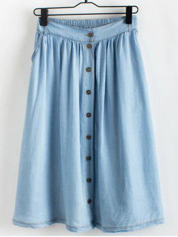 Trendy Chic Women's Denim Skirt