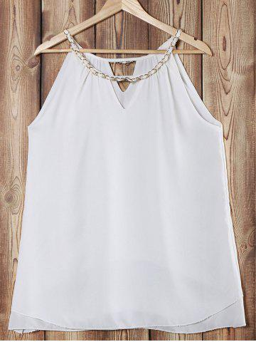 Outfits Elegant Chainmail Jewel Neck Sleeveless Layered Tank Top For Women