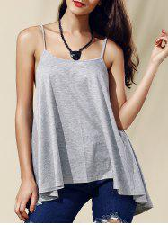 Chic Women's Backless Pure Color Spaghetti Strap Tank Top -